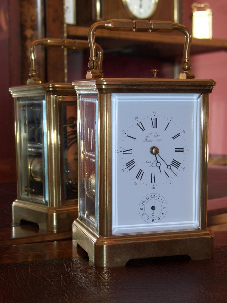 L Epee Carriage Clock Raymond Farrelly Clockmaker