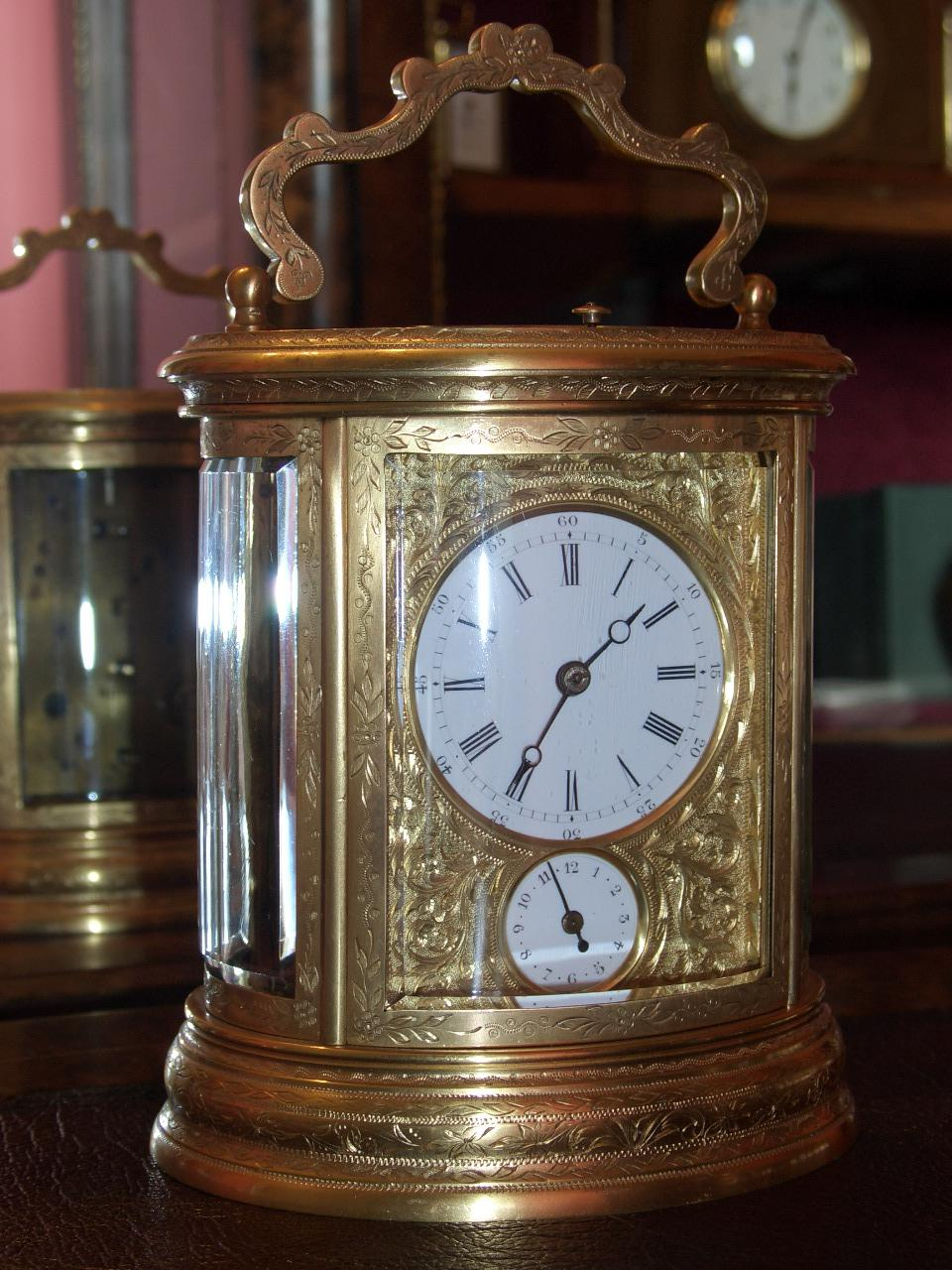 Drocourt, carriage clock