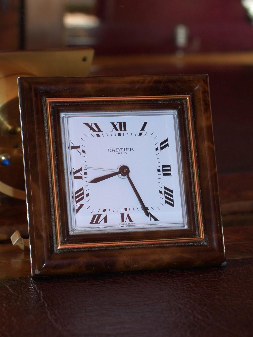 Cartier, travelling alarm clock – SOLD.