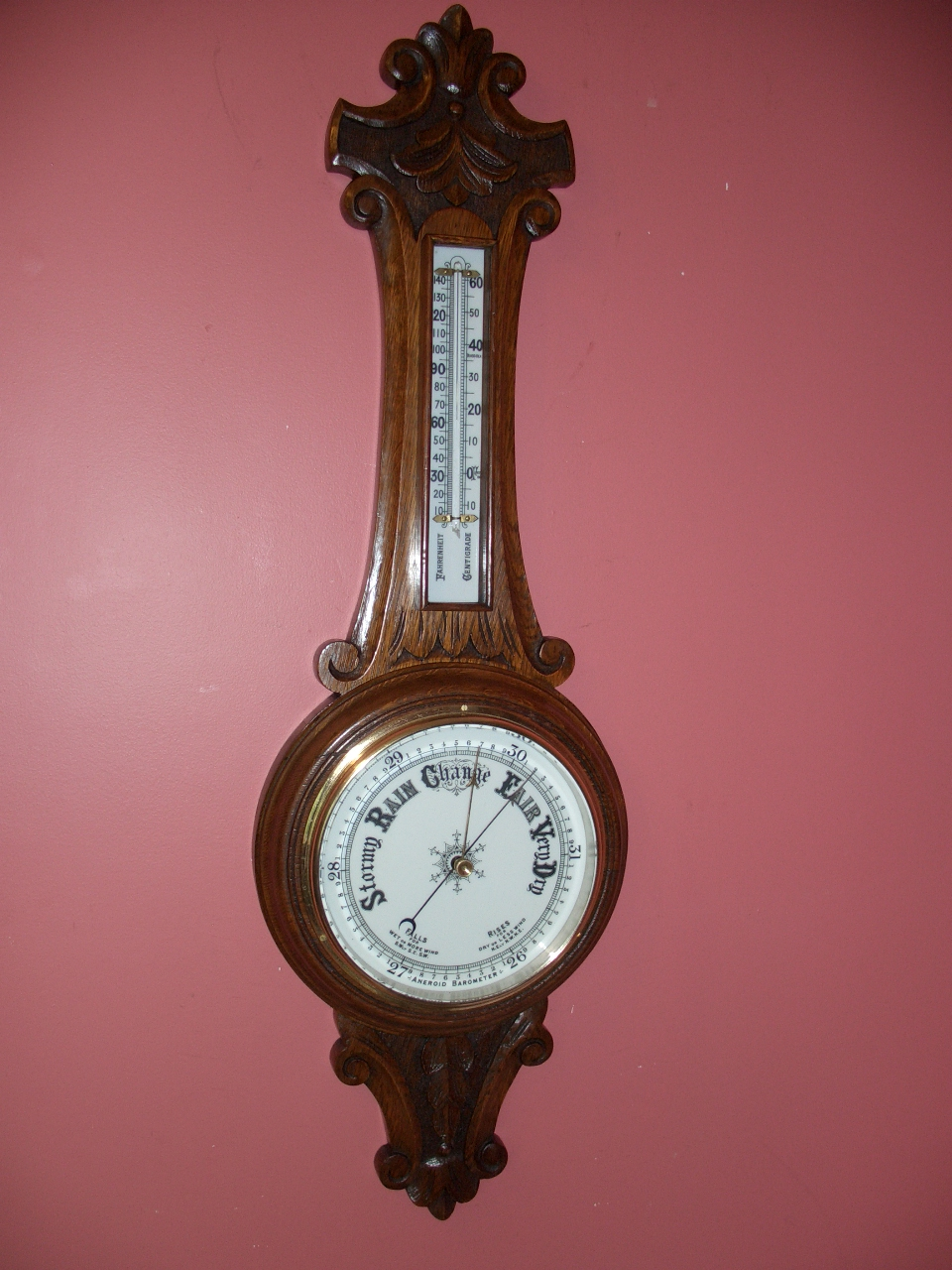 Victorian Aneroid barometer – SOLD