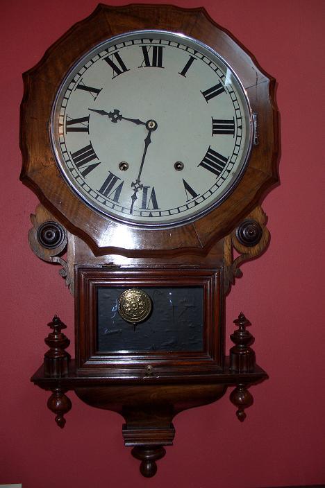 New Haven, drop dial wall clock – SOLD