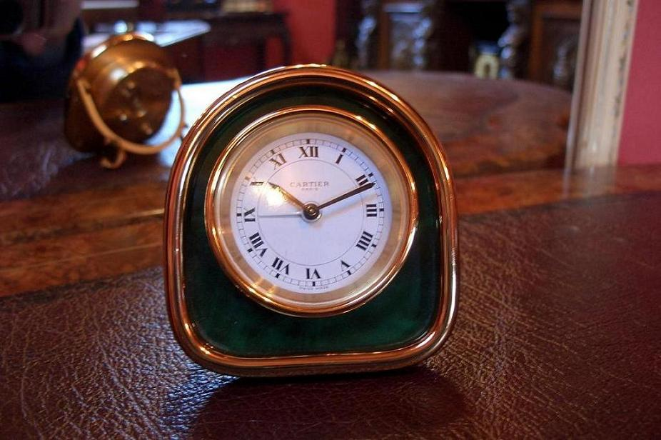 Cartier desk clock set – SOLD