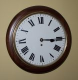 GPO, Round dial fusee wall clock   SOLD