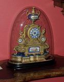French gilt bronze mantel clock by Samuel Marti