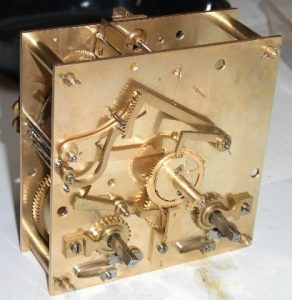 antique clock movement pillar dating