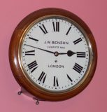 J. W. Benson round dial wall clock -SOLD