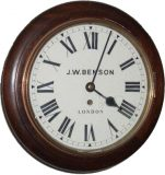 JW Benson round dial wall clock – SOLD