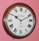 English Fusee Round dial wall clock